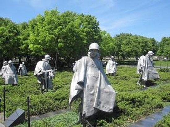 Monumento a los veteranos de la Guerra de Korea: parte del memorial