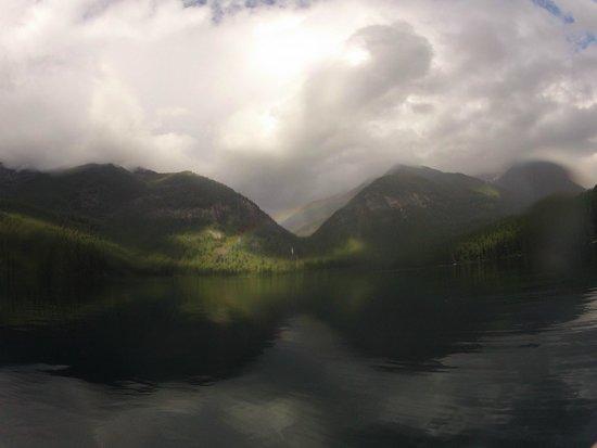 Holland Lake Lodge: Rainbow over Holland Waterfalls