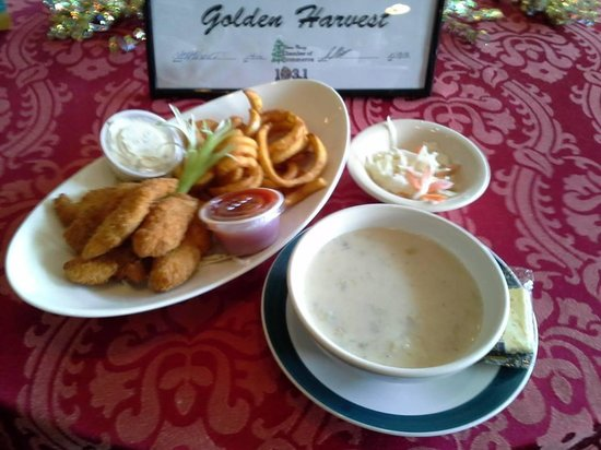 Golden Harvest Restaurant: Fish and Chips/Clam Chowder