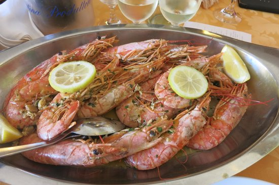 Ristorante Fiorentino: Deep frozen kingprawns without side dishes