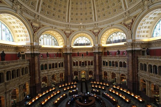 Library of Congress: The Actual Library From the Glass Enclosure