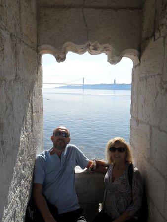 Torre de Belem: Vista de dentro da Torre