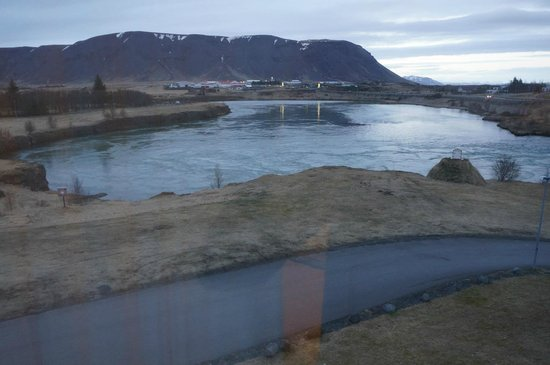 Hotel Selfoss: View from room.
