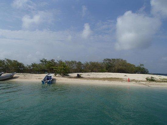 Decameron Baru: Playa Puntilla frenta a las playas del hotel se pasa en catamaran