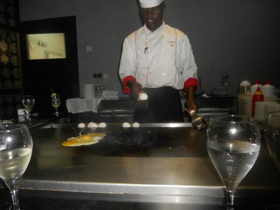 Majestic Elegance Punta Cana: Our Cook at Hibachi