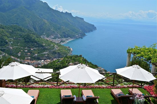 Palazzo Avino: view from the sun terrace by the pool
