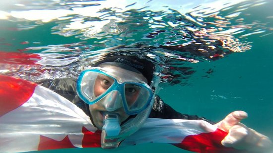 Chris Thompson Snorkelling with Divers Den July 2014