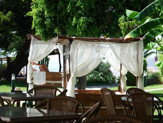 El Cortijo de Zahara: Cama Libanesa en Jardin
