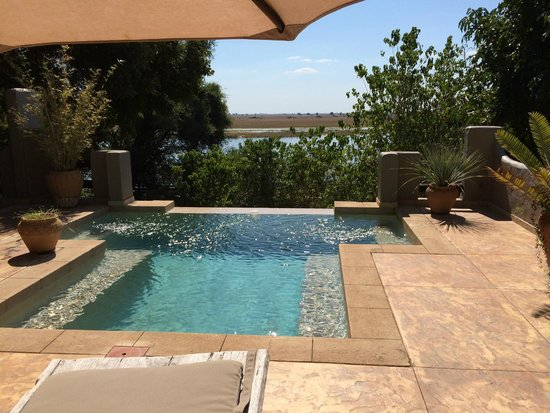 Chobe Game Lodge : Pool of Suite