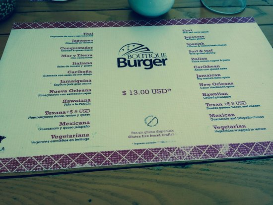 Azul Fives Hotel By Karisma: Burger Bar!