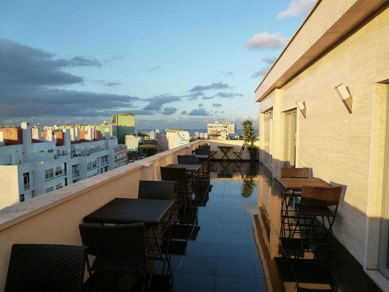 Hotel Dom Afonso Henriques : Dachterrasse