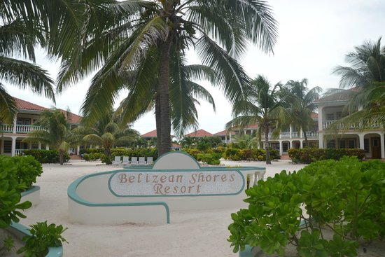 Belizean Shores Resort: View of the resort from the shore