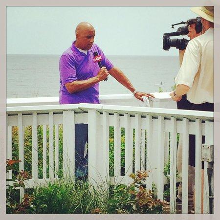 Ramada Plaza Nags Head Oceanfront : Joe Johns from CNN here covering Arthur 2014.