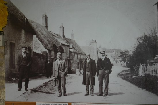The Gallery at The Guild: 4 tradesmen on Sheep Street at the turn of the 20th century. This photograph hangs in the entran