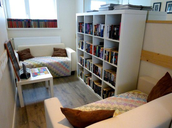 Books & Brunch: One of the upstairs reading areas.