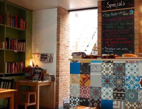 Books & Brunch: We liked the contrast between the cozy main floor and bright upstairs area.
