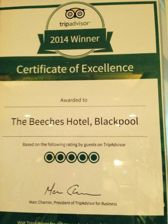 The Beeches Hotel, Blackpool: 2014
