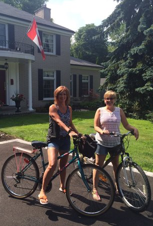 Abacot Hall Bed & Breakfast: Day of touring in bikes