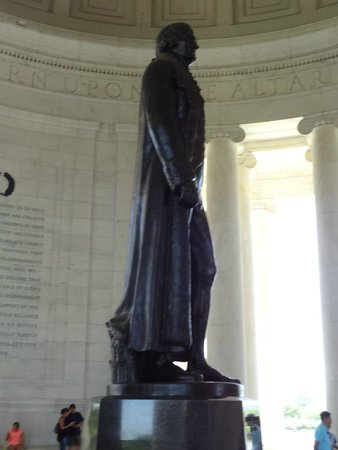 Jefferson Memorial: Inside statue of Thomas Jefferson.