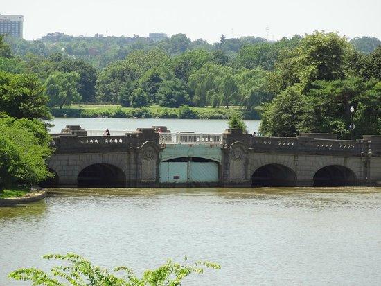 Jefferson Memorial : View of the Inlet Bridge below the Memorial.