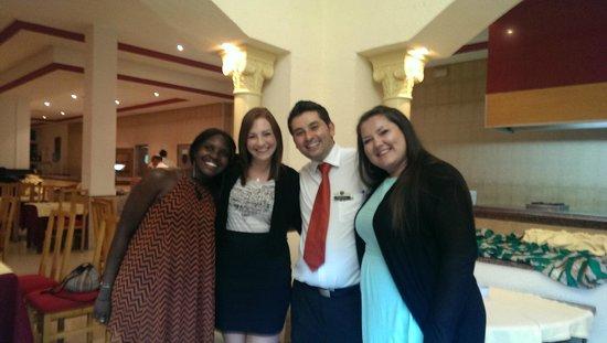 Ramada Liberty Resort Hotel: Us with the wonderful Restaurant Manager Ali