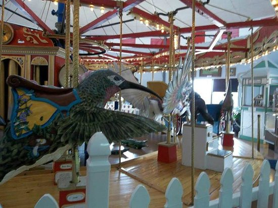 Patee House Museum: There is a working carousel that can be ridden for a modest fee..