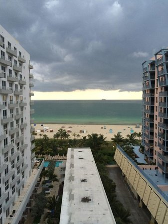Royal Palm South Beach Miami, A Tribute Portfolio Resort: View of a storm from the room