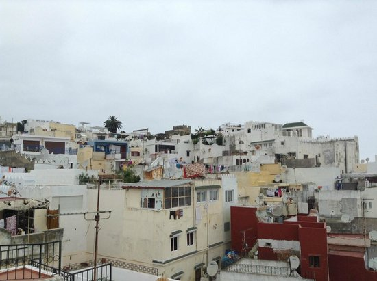 Dar JAND: looking up towards the Kasbah from the roof terrace