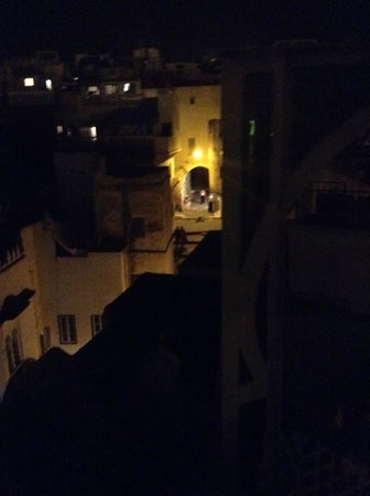 Dar JAND: looking down into the medina from the roof terrace