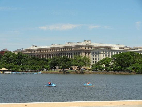 Paddle boats on the Tidal Basin.
