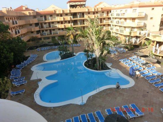 Suite Hotel Elba Castillo San Jorge & Antigua : Desde el ultimo piso.