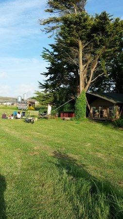 Tom's Eco Lodge : The lodge with hot tub