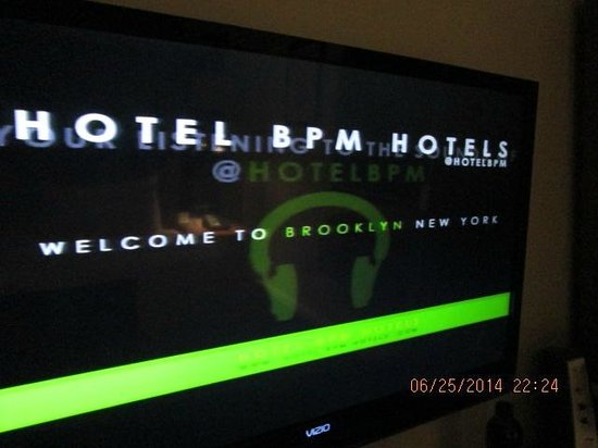 Hotel BPM Brooklyn : flat screen