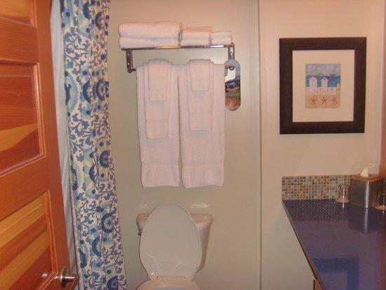 Inn At Cape Kiwanda: Good shower, plenty of towels and toiletries