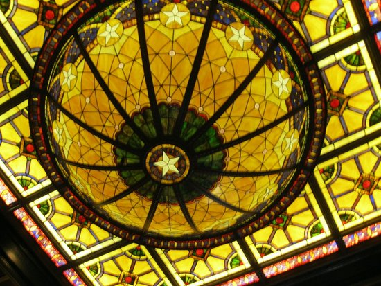 The Driskill: Stained glass dome
