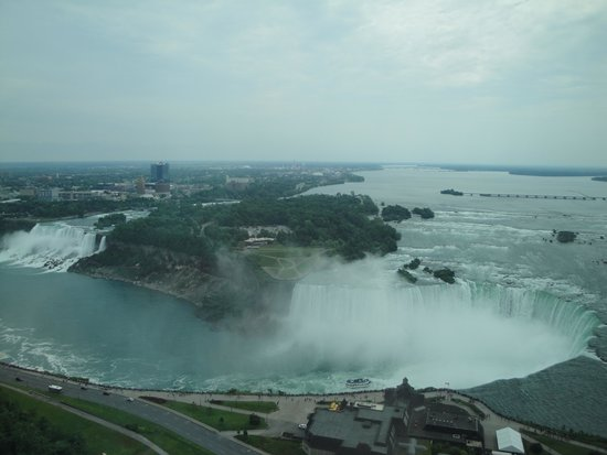 Niagara Falls : view from our 42nd floor Embassy Suites room
