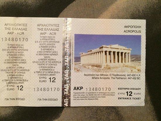 Acropolis: Билет на Акрополь