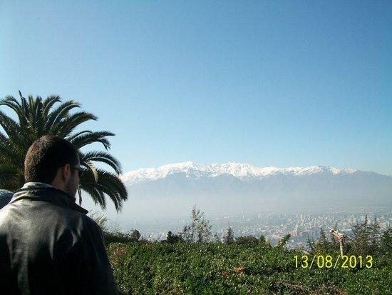Cerro San Cristobal: Vista das Cordilheira