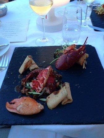 La Voile d'Or: salade de homard