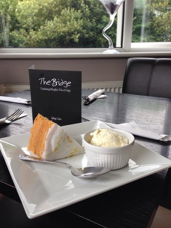 The bridge norden: Lemon Drizzle Cake...best around! Choose a cake and coffee for just £3.99