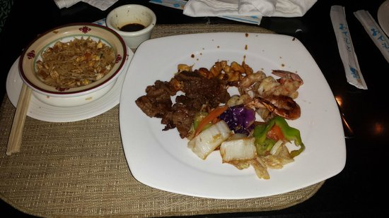 Luxury Bahia Principe Ambar Blue Don Pablo Collection : Teppanyaki main course at Maiko