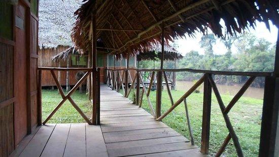 Amazon Camp Lodge: Corredor hacia las habitaciones