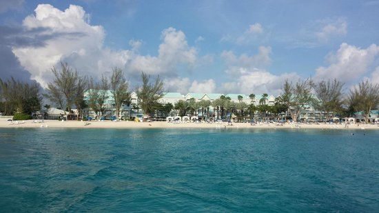 The Westin Grand Cayman Seven Mile Beach Resort & Spa : Looking back from sunset sail