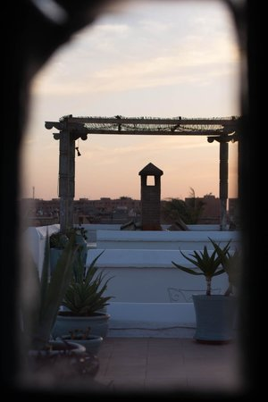 Hotel & Spa Riad Edward : View of the roof terrace from our room