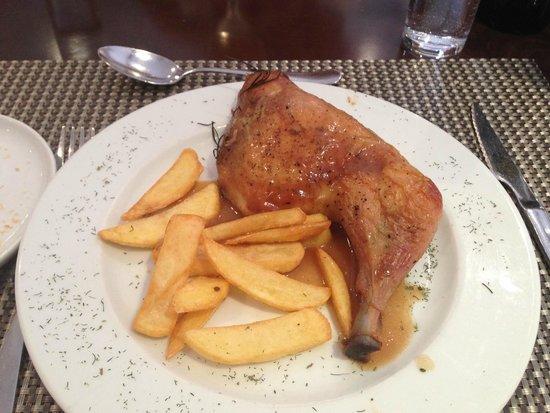 Eurostars Toledo : Dinner - chicken & chips