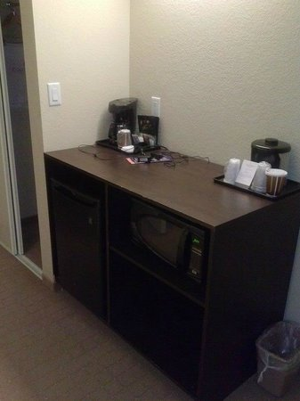 Country Inn & Suites By Carlson, Niagara Falls, ON: area with microwave and fridge