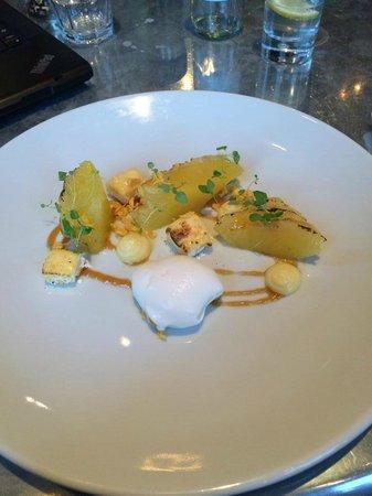 Salthouse Harbour Hotel: Caramelised Pineapple dessert