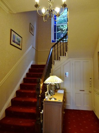 Highcliffe House: Check-in and stair