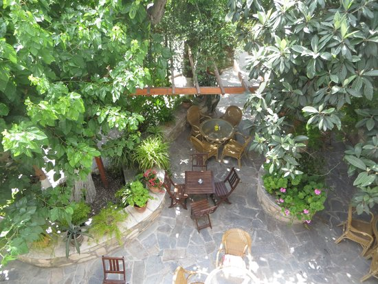 Bunch of Grapes Inn Hotel : View of the courtyard from the veranda
