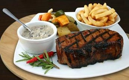 The Avenue Restaurant and Grill: Tony's famous sirloin